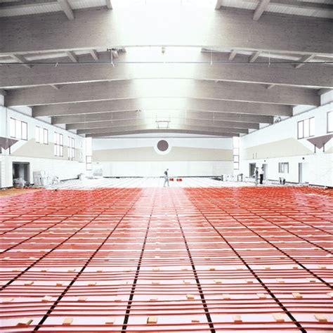 riscaldamento a pavimento rehau il riscaldamento a pavimento con elementi flettenti di