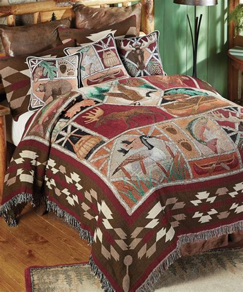 tapestry bedding wildlife tapestry bedding wildlife lodge bedding cabin