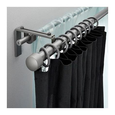 what color curtain rod r 196 cka hugad double curtain rod combination silver color