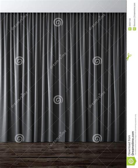 schwarze vorh 228 nge lizenzfreies stockbild bild 33031166 - Schwarze Vorh Nge