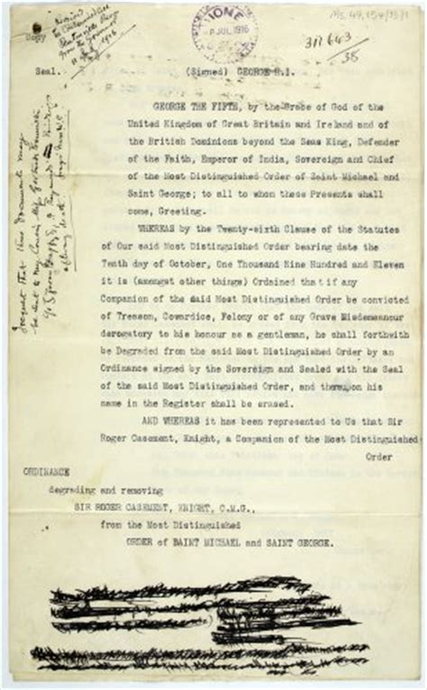 Proof Of Incarceration Letter National Library Releases Documents From Roger Casement S Incarceration