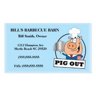 bbq business cards templates barbecue business cards templates zazzle