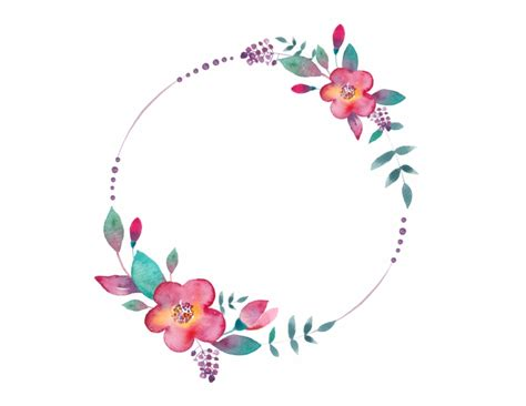 watercolor youtube circle painting floral