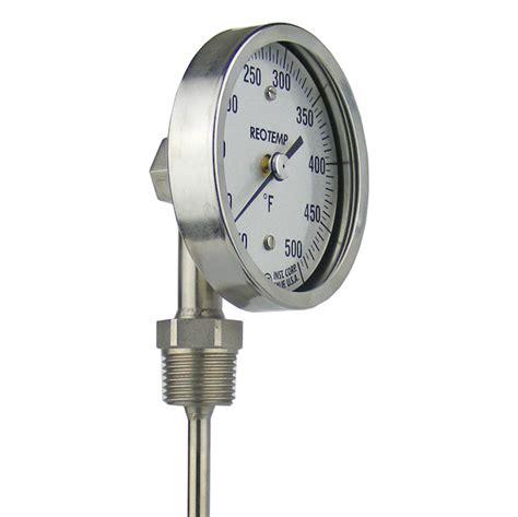 Termometer Bimetal bottom connect bimetal thermometer reotemp instruments