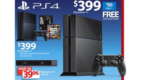 sony ps4 with free 50 gift card advertised in walmart black friday 2014 ad - Ps4 Black Friday Gift Card