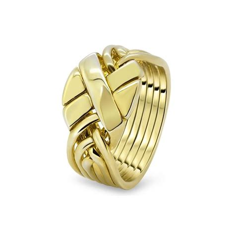 mens gold 6apc m puzzle rings creations