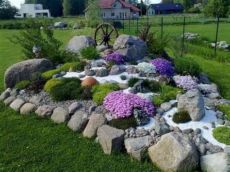 Rock Garden How To Beautiful Front Yard Rock Garden Landscaping Ideas 55 Homevialand