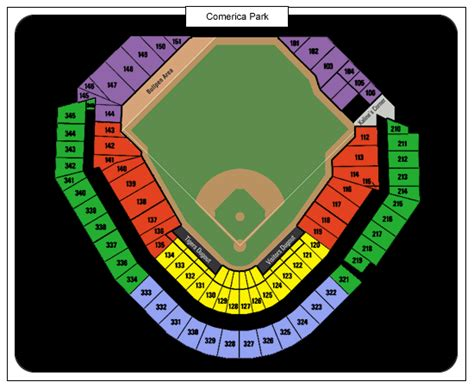 comerica park seating sections comerica park tickets comerica park detroit tickets