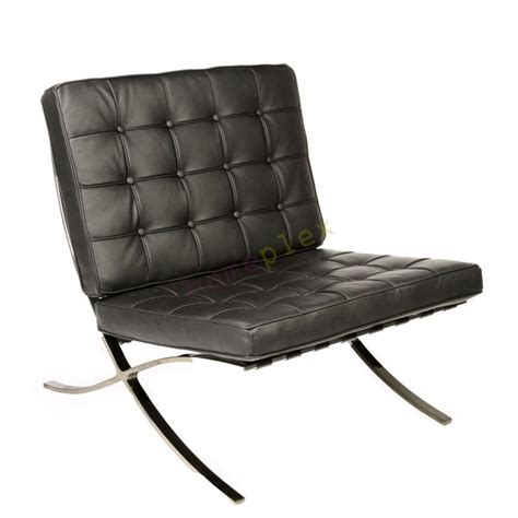 Barcelona Lounge Chair Replica by Replica Mies De Rohe Barcelona Lounge Chair Black