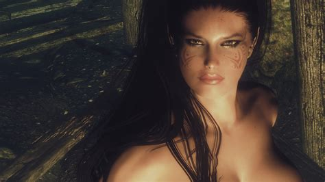 beautiful hair skyrim fr girl followers with in game body changer at skyrim