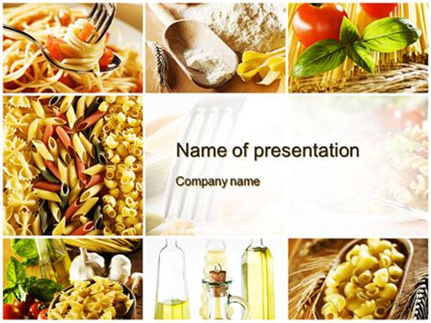 cooking pasta powerpoint template backgrounds 10250
