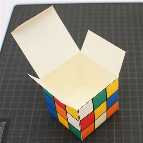 How To Make A Rubix Cube Out Of Paper - rubik s cube printable diy gift box favor box cupcake