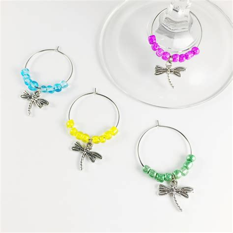 dragonfly wine charms therapy wine
