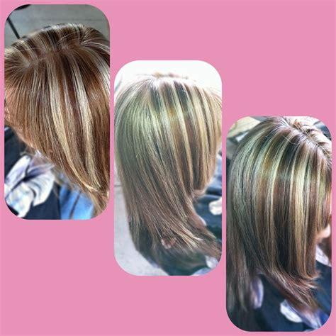 blonde hair with mocha lowlights beige blonde highlights with mocha low lights and cinnamon