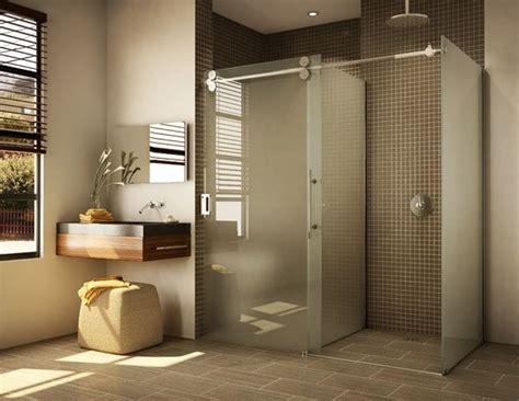 modern bathroom doors brown wall tiles with floating vanity for modern bathroom decor with sleek glass
