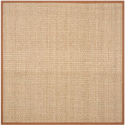 10 x 10 area rugs square safavieh fiber beige brown 10 ft x 10 ft square