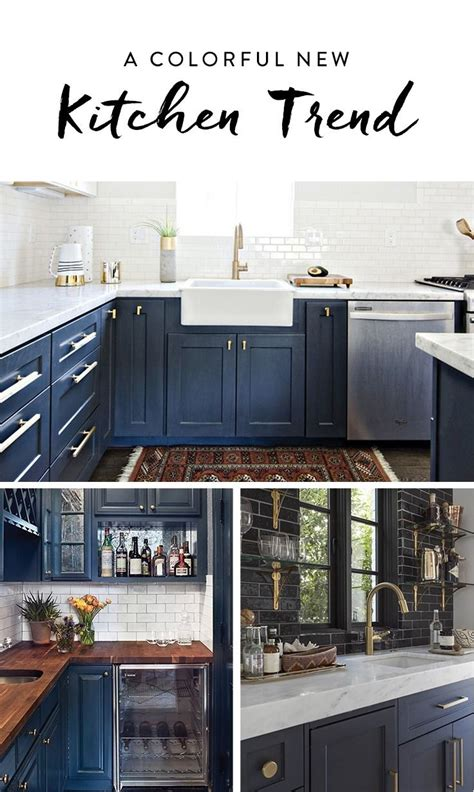 navy blue kitchen cabinet colors break out the paint blue kitchens are tr 232 s chic right now