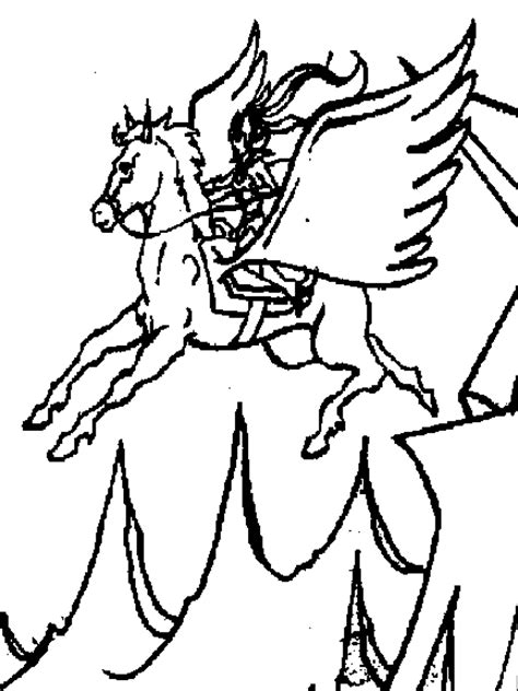 coloring pages of flying horses flying coloring pages
