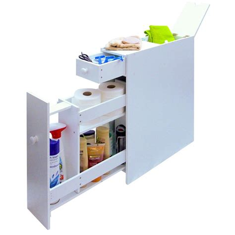 bathroom product storage slimline space saving bathroom storage cupboard