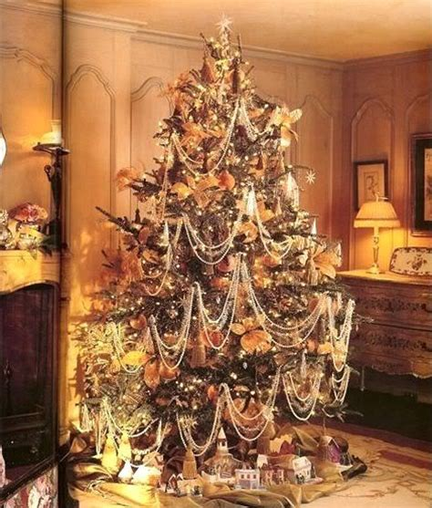 beautiful tree with bead garland image christmas pinterest