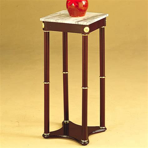 Planter Stands by Accent Stands White Marble Top Square Plant Stand Plant