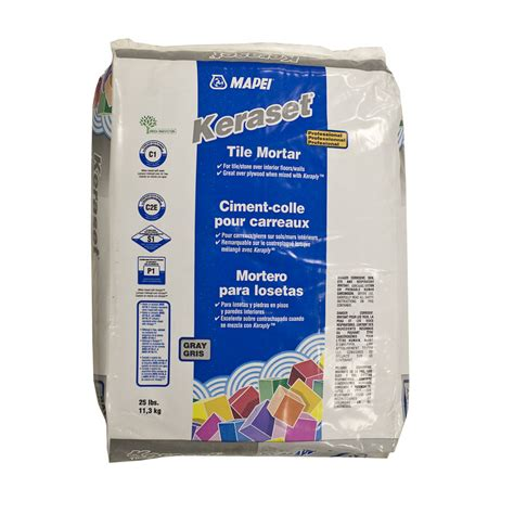 shop mapei gray powder dry thinset mortar at lowes com