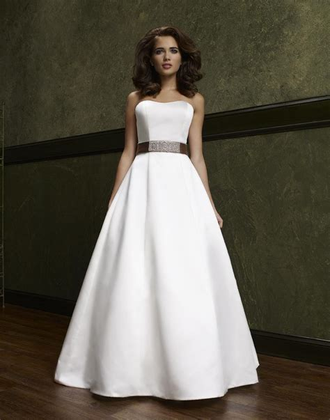 A Line Wedding Dresses by Simple A Line Wedding Dress Ipunya