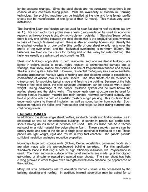 Descriptive Essay Winter by Pre Engineered Metal Buildings The Trend In Building Const