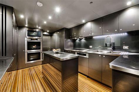 catamaran zenith mega yachts interior kitchen zenith superyacht galley