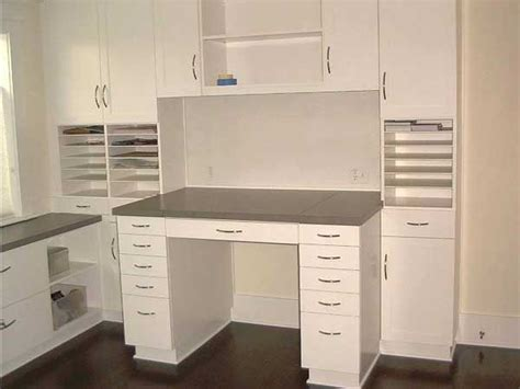 custom painted craft table and storage cabinet terrific