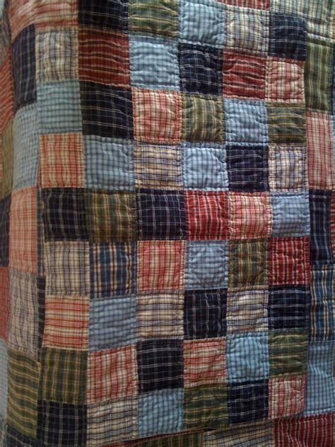 pattern quilt shirt quilted from men s old shirts quilting pinterest