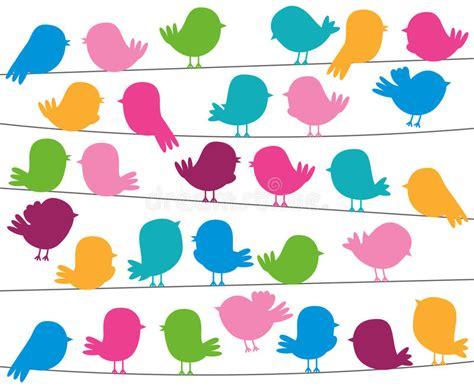 format eps en jpg cute cartoon style bird silhouettes in vector format stock