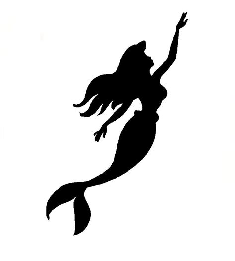 mermaid silhouette tattoo mermaid stencil by ninonish d5eivh5 jpg 900 215 1000