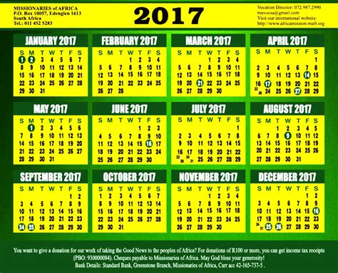 year calendar 2017 south africa 2017 calendar leading to the jubilee celebrations of 150