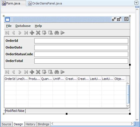 form design in java swing oracle jdeveloper 11g release 2 tutorials building a