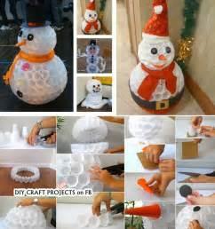 schneemann dekoration schneemann basteln stimmungsvolle deko f 252 r weihnachten