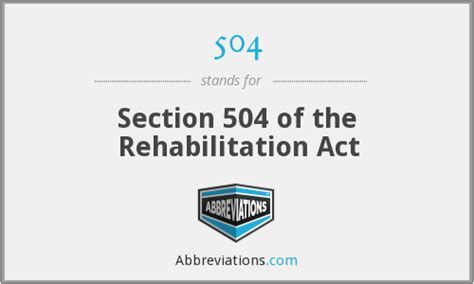 section 504 of the rehabilitation act 504 section 504 of the rehabilitation act