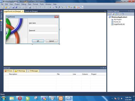 membuat form login di visual basic 2010 selamat datang 1 membuat aplikasi login sederhana pada