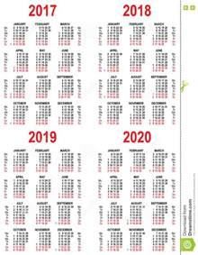 Bangladesh Calendario 2018 Set Calendar 2017 2018 2019 2020 Grid Template Stock
