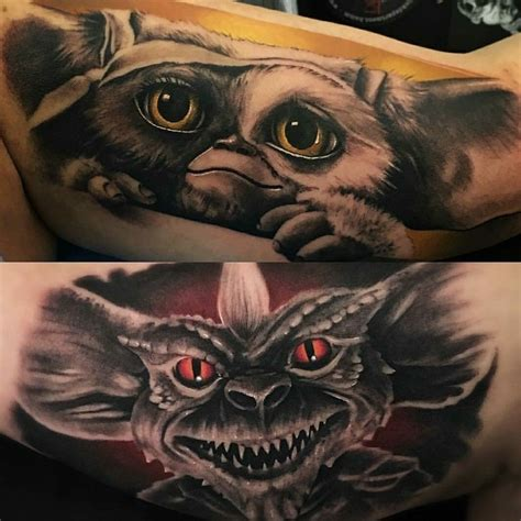 gremlin tattoo gizmo and gremlin by de la concha tattoos