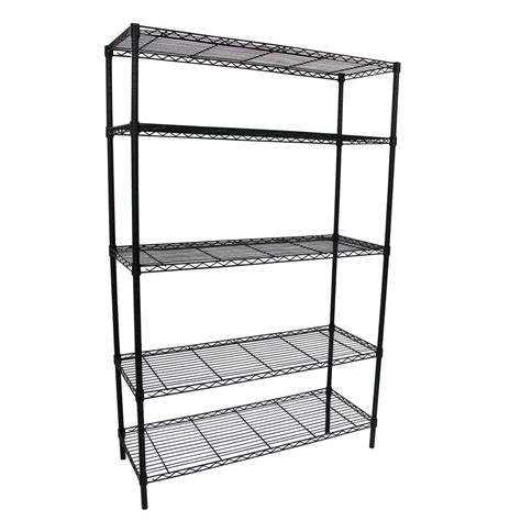 hdx wire shelving coupons for hdx 48 in w x 72 in h x 18 in d decorative wire chrome finish commercial shelving