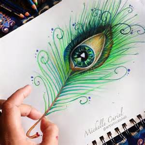 cool colored pencil drawings peacock eye drawing by artisticalshell on deviantart
