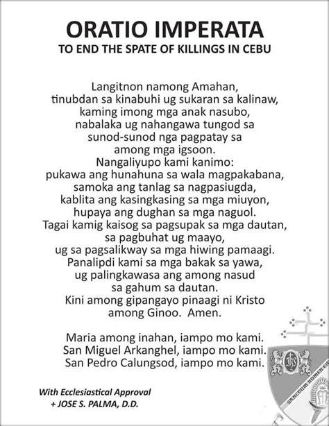 Amid killings, Cebu archdiocese issues oratio imperata