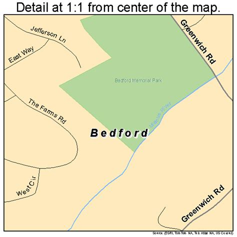 bedford new york street map 3605309