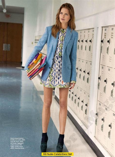 Back To School Fashion Flout by Michaela Hlavackova Posing Scans From Mags