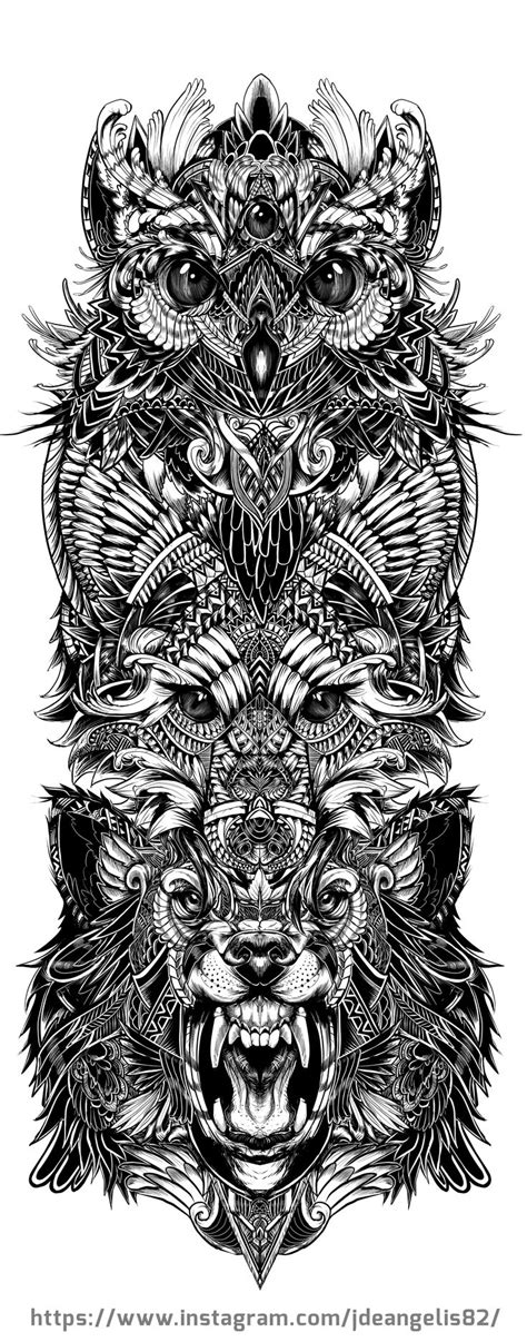 totem tattoo designs best 25 totem ideas only on totem pole