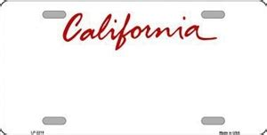 Make Your Own Wall Stickers california blank license plate