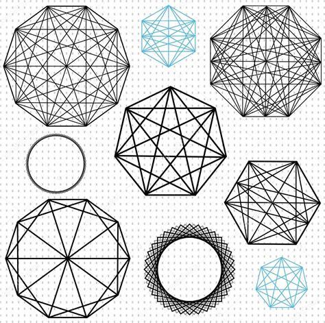 desenho geometricos desenhos geom 233 tricos de pol 237 gono vetor de stock