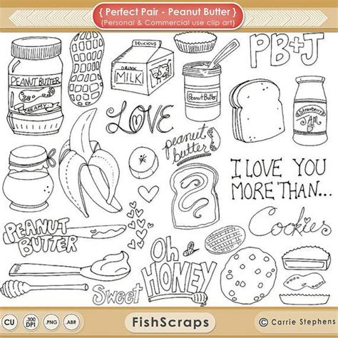 how to create digital doodle peanut butter digital sts printable png clip