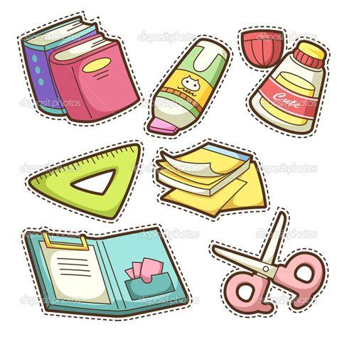 imagenes de utiles escolares en ingles para imprimir school items para recortar pinterest escolares